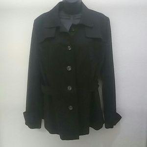 Apostrophe Black Cotton Jacket